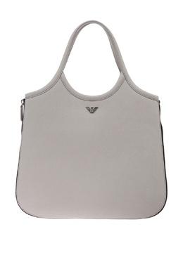 Серая кожаная сумка Emporio Armani 2706126893