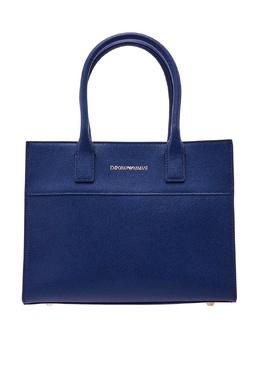 Синяя кожаная сумка Emporio Armani 2706126888