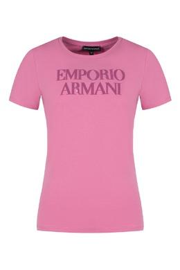 Розовая футболка с пайетками Emporio Armani 2706129340