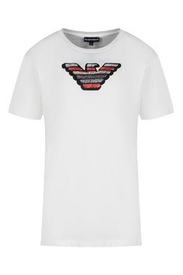 Футболка с логотипом Emporio Armani 2706129326