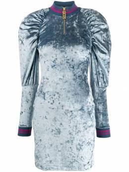 GCDS платье с объемными рукавами FW20W020039