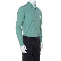 Ralph Lauren Green Cotton Buttoned Shirt S 229824