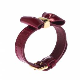 Louis Vuitton Red Vernis Monogram Leather Favorite Bow Bracelet 227460