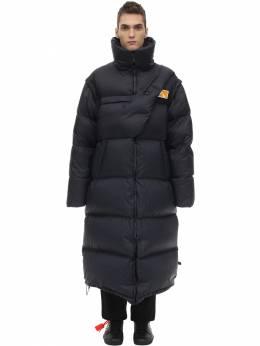 Пуховое Пальто Со Съемными Рукавами Off-White 70IJRD052-MzIwMA2