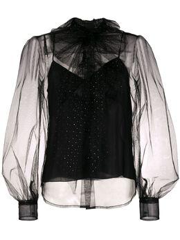Marc Jacobs декорированная блузка с бантом W2190204
