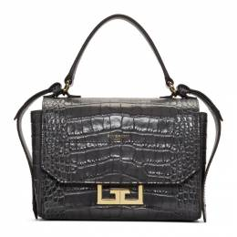 Givenchy Grey Croc Mini Eden Bag BBU005B0LK