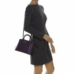Prada Purple Saffiano Lux Leather Small Promenade Crossbody Bag 228359