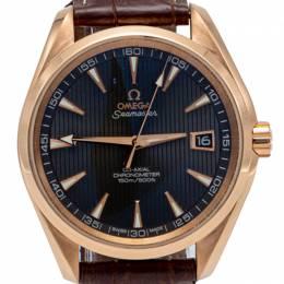 Omega Grey Seamaster Aqua Terra Rose Gold Automatic Skeleton Back Men'S Watch 41.5MM 230240