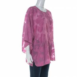 Tory Burch Purple Cotton Silk Fil Coupe Tunic Top XL 229835