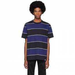 Norse Projects Black and Blue Striped Johannes T-Shirt N01-0467