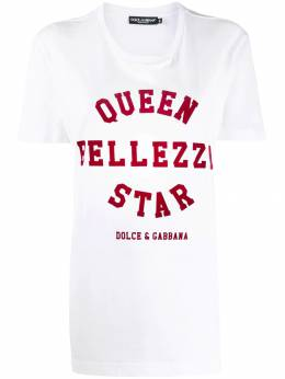 Dolce&Gabbana футболка с принтом Queen Bellezza Star F8K74TG7TAQ