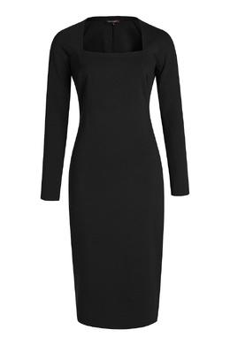 Черное платье-футляр Terekhov Girl 2138155592