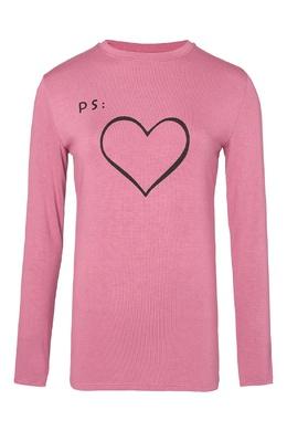 Розовый лонгслив с сердцем Terekhov Girl 2138155626