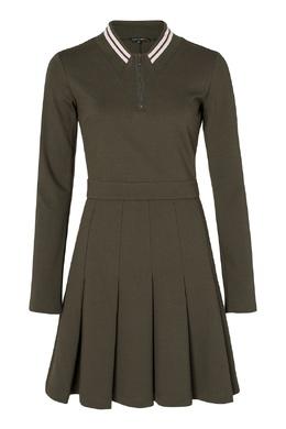Зеленое платье с полосатыми вставками Terekhov Girl 2138155596