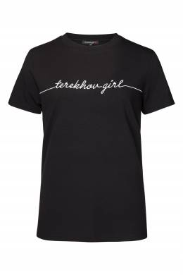 Футболка черного цвета с надписью Terekhov Girl 2138155618