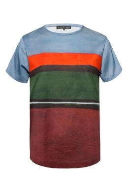 Футболка с разноцветными полосками Alexander Terekhov 74155732