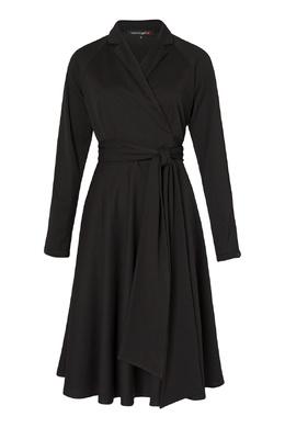 Черное платье с запахом Terekhov Girl 2138155586