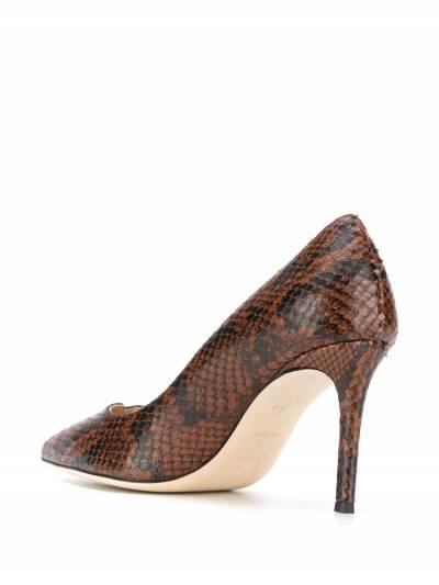 Giuseppe Zanotti Design туфли-лодочки со змеиным принтом I960002002 - 3