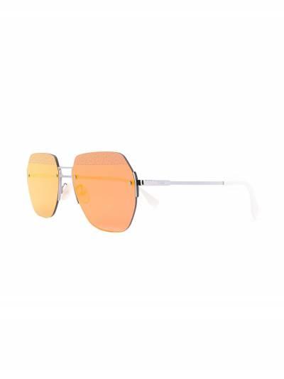 Fendi Eyewear солнцезащитные очки в геометричной оправе FFM0067FS - 2