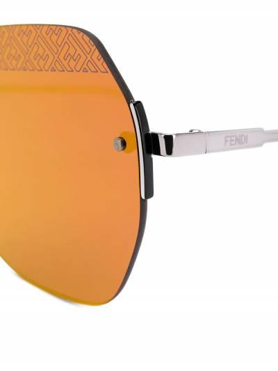 Fendi Eyewear солнцезащитные очки в геометричной оправе FFM0067FS - 3
