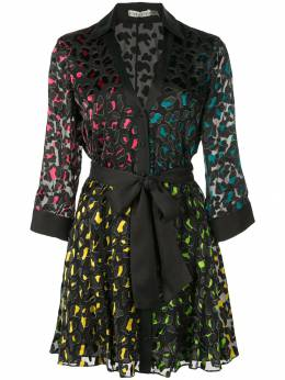 Alice + Olivia платье мини Raja с леопардовым принтом CC908B62539