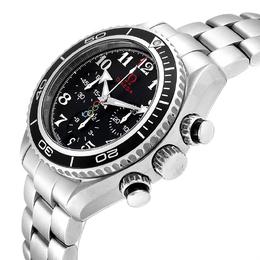 Omega Black Stainless Steel Seamaster Planet Ocean Olympic 222.30.38.50.01.003 Watch Men's Wristwatch 37.5 MM 230694