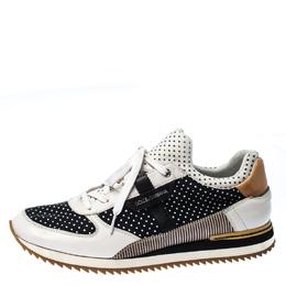 Dolce&Gabbana Black/White Polka Dot Sneakers Size 45 230264
