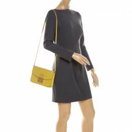 Furla Yellow Leather Metropolis Crossbody Bag