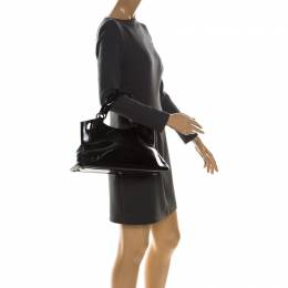 Cartier Black Patent Leather Small Marcello De Cartier Bag 228127