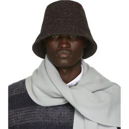 Jil Sander Grey Wool Hat 192249M14000102GB