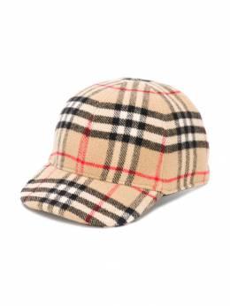 Burberry Kids кепка в клетку Vintage Check 8019252