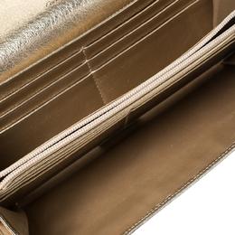Cartier Gold Metallic Flap Continental Wallet 229505