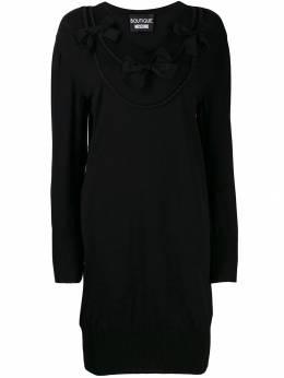 Boutique Moschino платье миди с бантом J04906103
