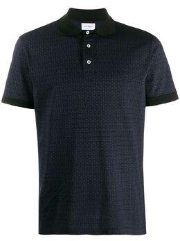 Salvatore Ferragamo рубашка-поло с вышитым логотипом 120471000