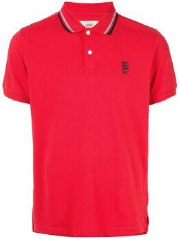 Kent & Curwen рубашка-поло с отделкой в полоску K40H9A113075