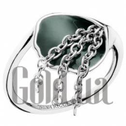 Женское серебряное кольцо с эмалью, 18.5 Nina Ricci 1531105X18p5