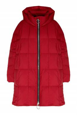 Красный стеганый пуховик-пальто Ienki Ienki 2825156420