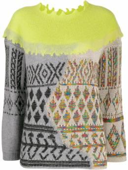 Antonio Marras комбинированный свитер 1Q8808JT7