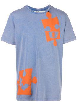 Off-White футболка Puzzle OMAA027F191850123019