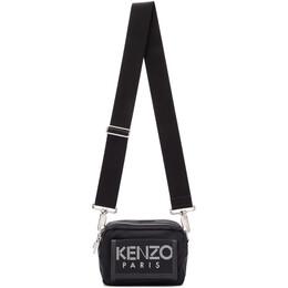 Kenzo Black Sport Logo Crossbody Bag F955SF218F24