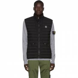 Stone Island Black Real Down Zip-Up Vest 7115G0225