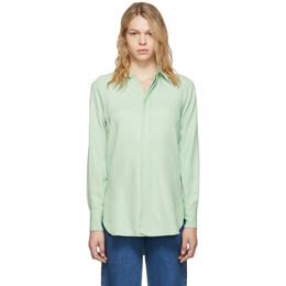 Ami Alexandre Mattiussi Green Oversized Button Down Shirt H19FC150.411