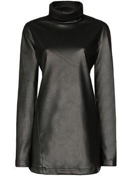 We11Done платье мини из искусственной кожи WDF4519123BK