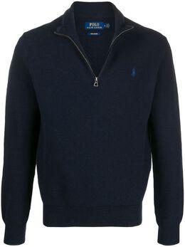 Polo Ralph Lauren джемпер на молнии с вышитым логотипом 710701611012