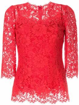 Dolce&Gabbana кружевная блузка с фестонами F7X46TFLM9V
