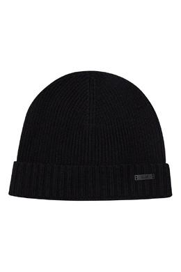 Черная шерстяная шапка Boss by Hugo Boss 1166156576