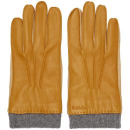 Paul Smith Tan Leather Gloves M1A-200D-AG146
