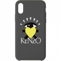 Kenzo Grey Limited Edition Eye iPhone XS Max Case 192387M15302101GB