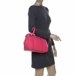 Kate Spade Hot Pink Leather Small Newberry Lane Loden Top Handle Bag 229456