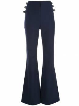 Jonathan Simkhai расклешенные брюки с пряжками сбоку 4194004G